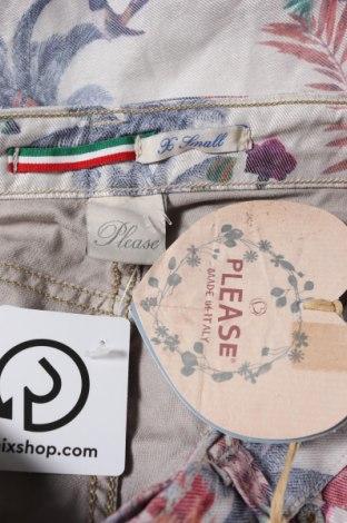Дамски панталон Please, Размер XS, Цвят Многоцветен, 75% памук, 22% полиестер, 3% еластан, Цена 15,66лв.