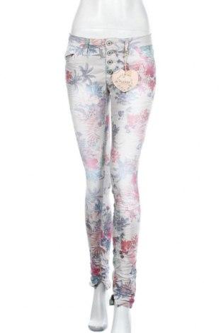 Дамски панталон Please, Размер S, Цвят Многоцветен, 75% памук, 22% полиестер, 3% еластан, Цена 20,64лв.