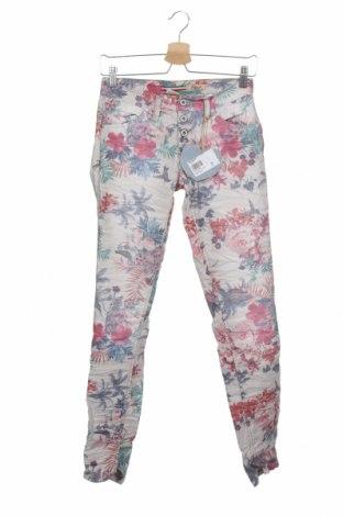 Дамски панталон Please, Размер XS, Цвят Многоцветен, 75% памук, 22% полиестер, 3% еластан, Цена 20,64лв.