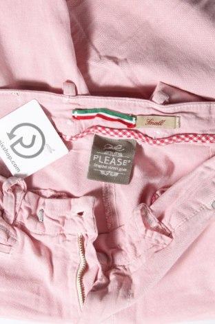 Дамски панталон Please, Размер S, Цвят Розов, 98% памук, 2% еластан, Цена 11,84лв.