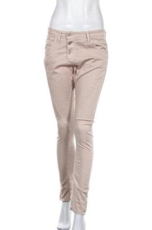 Дамски панталон Please, Размер S, Цвят Бежов, 98% памук, 2% еластан, Цена 18,90лв.