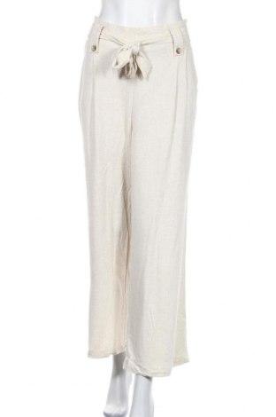 Дамски панталон Rivers, Размер M, Цвят Бежов, 88% вискоза, 12% лен, Цена 19,38лв.