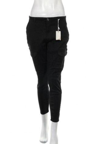 Дамски панталон Rockmans, Размер M, Цвят Черен, Памук, полиестер, еластан, Цена 17,35лв.