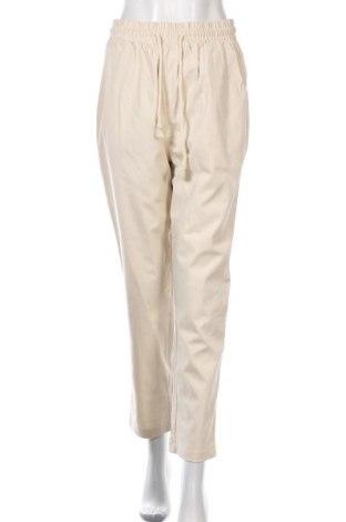 Дамски панталон SNDYS, Размер M, Цвят Бежов, 97% памук, 3% еластан, Цена 14,33лв.