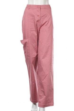 Дамски панталон Selected Femme, Размер M, Цвят Розов, 60% лиосел, 37% памук, 3% еластан, Цена 21,36лв.