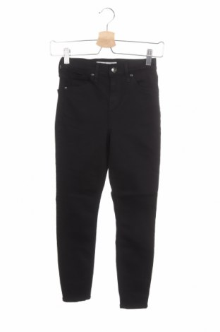 Дамски панталон Topshop, Размер XS, Цвят Черен, 91% памук, 6% полиестер, 3% еластан, Цена 10,40лв.