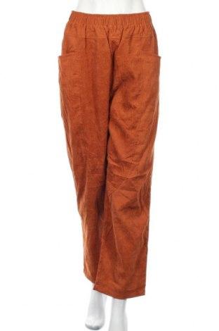 Дамски панталон Zanzea, Размер XXL, Цвят Оранжев, 100% полиестер, Цена 15,09лв.
