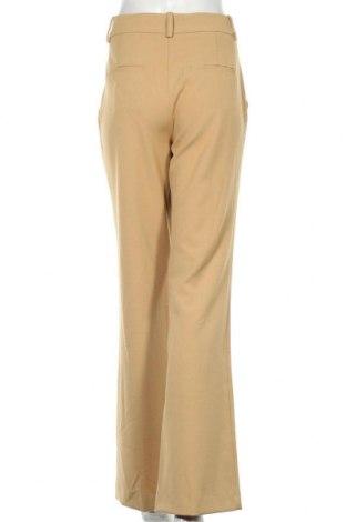 Дамски панталон Zara, Размер M, Цвят Бежов, 68% полиестер, 29% вискоза, 3% еластан, Цена 18,63лв.