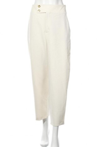 Дамски панталон Zara, Размер L, Цвят Екрю, 68% полиестер, 29% вискоза, 3% еластан, Цена 59,25лв.