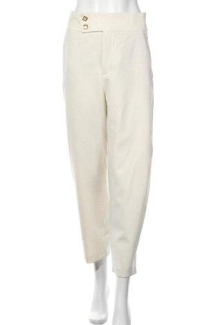 Дамски панталон Zara, Размер S, Цвят Екрю, 68% полиестер, 29% вискоза, 3% еластан, Цена 15,64лв.