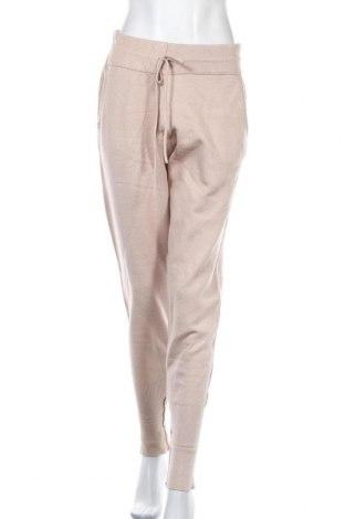 Pantaloni de femei Zara, Mărime XL, Culoare Bej, 47% viscoză, 27% poliamidă, 26% poliester, Preț 57,50 Lei