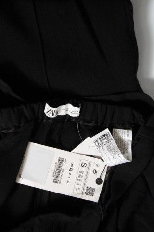 Дамски панталон Zara, Размер S, Цвят Черен, 75% вискоза, 25% вълна, Цена 44,25лв.