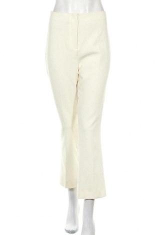 Дамски панталон Zara, Размер L, Цвят Екрю, 74% полиестер, 19% вискоза, 7% еластан, Цена 10,06лв.