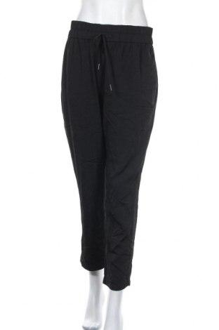 Дамски панталон Zara, Размер L, Цвят Черен, 83% вискоза, 17% полиамид, Цена 8,52лв.
