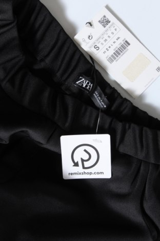 Дамски панталон Zara, Размер S, Цвят Черен, 94% полиестер, 6% еластан, Цена 44,25лв.