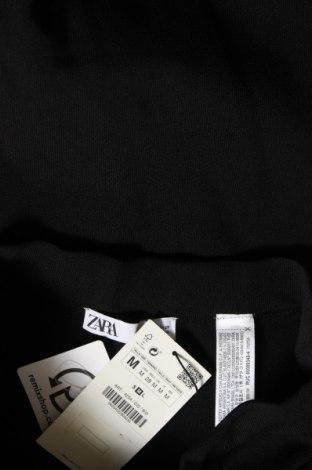 Дамски панталон Zara, Размер M, Цвят Черен, 55% вискоза, 43% полиамид, 2% еластан, Цена 15,27лв.