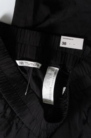 Дамски панталон Zara, Размер M, Цвят Черен, 83% вискоза, 17% полиамид, Цена 8,52лв.