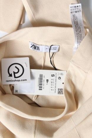 Дамски панталон Zara, Размер S, Цвят Бежов, 53% вискоза, 45% полиамид, 2% еластан, Цена 19,08лв.