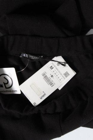 Дамски панталон Zara, Размер M, Цвят Черен, 52% памук, 48% полиестер, Цена 11,51лв.