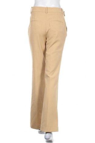 Дамски панталон Zara, Размер S, Цвят Бежов, 68% полиестер, 29% вискоза, 3% еластан, Цена 14,26лв.