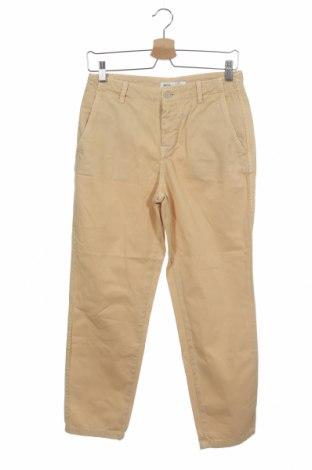 Дамски панталон Zara, Размер XS, Цвят Жълт, 100% памук, Цена 12,26лв.
