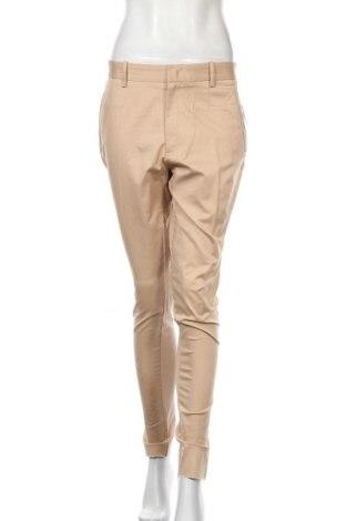 Дамски панталон Zara, Размер L, Цвят Бежов, 98% памук, 2% еластан, Цена 13,65лв.
