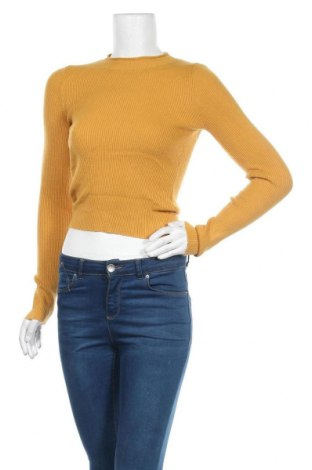 Дамски пуловер Ally, Размер M, Цвят Жълт, 43% вискоза, 32% полиамид, 25% полиестер, Цена 10,92лв.