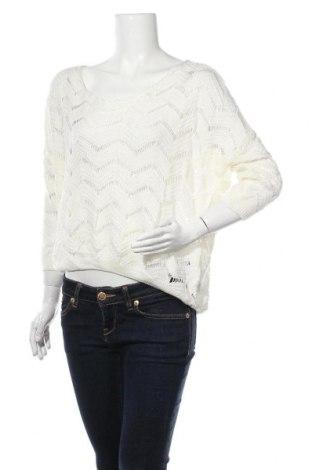 Дамски пуловер Ally, Размер S, Цвят Екрю, Акрил, Цена 8,51лв.