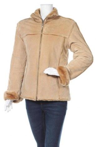 Дамско кожено яке Marciano, Размер L, Цвят Бежов, Естествена кожа, Цена 82,32лв.