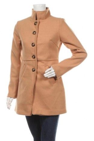 Γυναικείο παλτό Le Comptoir du Manteau, Μέγεθος S, Χρώμα  Μπέζ, 90% πολυεστέρας, 10% μαλλί, Τιμή 56,15€