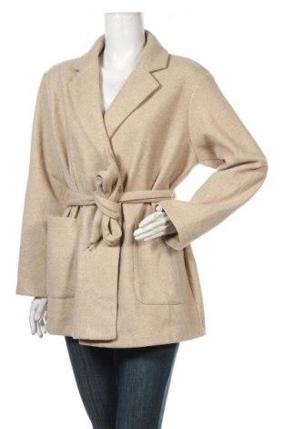 Palton de femei Zara, Mărime S, Culoare Bej, Poliester, Preț 175,00 Lei