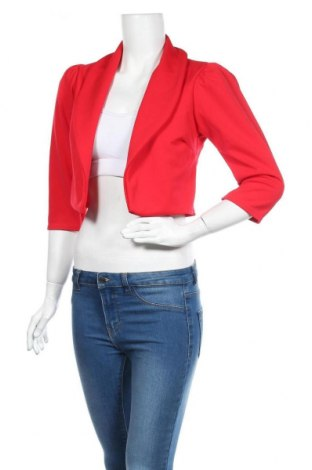 Дамско сако Quiz, Размер M, Цвят Червен, 95% полиестер, 5% еластан, Цена 14,44лв.