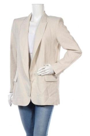 Γυναικείο σακάκι Zara, Μέγεθος L, Χρώμα  Μπέζ, 92% βισκόζη, 8% πολυεστέρας, Τιμή 11,47€