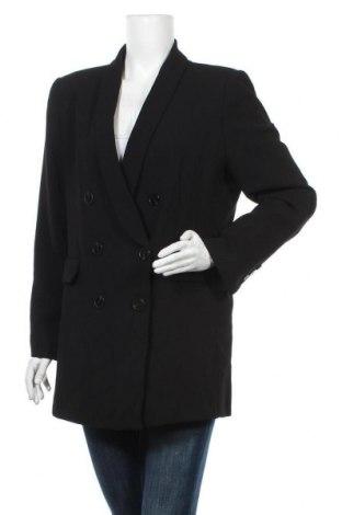 Дамско сако Zara, Размер XL, Цвят Черен, Полиестер, Цена 59,25лв.