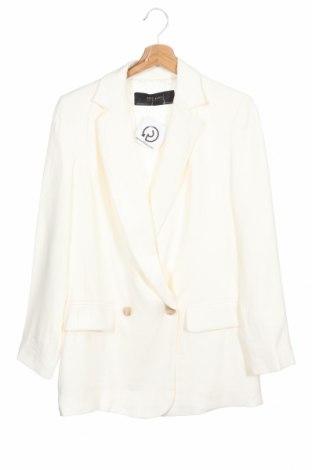 Sacou de femei Zara, Mărime S, Culoare Ecru, 93% viscoză, 7% poliester, Preț 109,42 Lei
