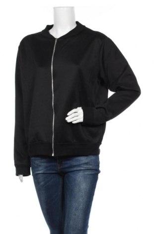 Дамско спортно горнище Boohoo, Размер M, Цвят Черен, 95% полиестер, 5% еластан, Цена 4,55лв.