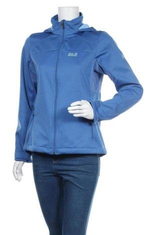 Γυναικείο μπουφάν αθλητικό Jack Wolfskin, Μέγεθος M, Χρώμα Μπλέ, Πολυεστέρας, Τιμή 31,79€