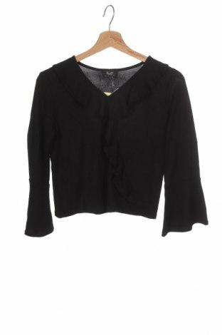 Детска блуза Bardot, Размер 12-13y/ 158-164 см, Цвят Черен, 52% полиестер, 43% вискоза, 5% еластан, Цена 3,91лв.