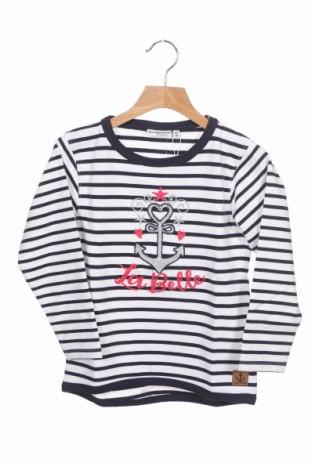 Детска блуза Salt and pepper, Размер 3-4y/ 104-110 см, Цвят Бял, 95% памук, 5% еластан, Цена 14,04лв.