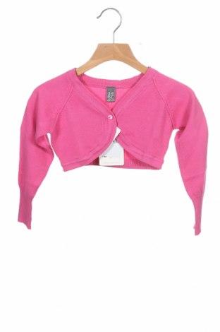 Детска жилетка Zara, Размер 2-3y/ 98-104 см, Цвят Розов, 70% памук, 30% полиамид, Цена 3,00лв.