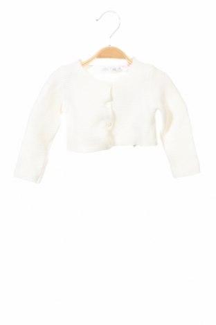 Детска жилетка Zara, Размер 6-9m/ 68-74 см, Цвят Бял, Памук, Цена 9,00лв.