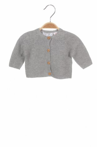 Pulover cu nasturi pentru copii Zara, Mărime 1-2m/ 50-56 cm, Culoare Gri, 38% bumbac, 32% poliamidă, 30% lână, Preț 65,00 Lei