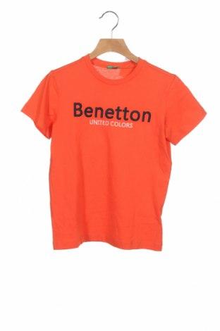 Παιδικό μπλουζάκι United Colors Of Benetton, Μέγεθος 7-8y/ 128-134 εκ., Χρώμα Πορτοκαλί, Βαμβάκι, Τιμή 9,74€