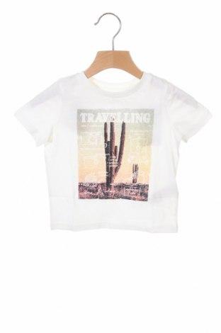 Tricou pentru copii Vertbaudet, Mărime 18-24m/ 86-98 cm, Culoare Alb, Bumbac, Preț 23,77 Lei