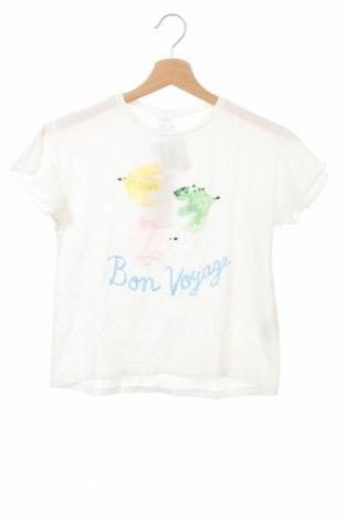 Tricou pentru copii Zara, Mărime 7-8y/ 128-134 cm, Culoare Alb, Bumbac, Preț 27,63 Lei