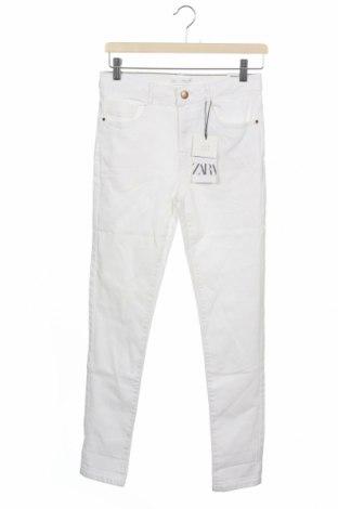 Παιδικά τζίν Zara, Μέγεθος 13-14y/ 164-168 εκ., Χρώμα Λευκό, 98% βαμβάκι, 2% ελαστάνη, Τιμή 9,04€
