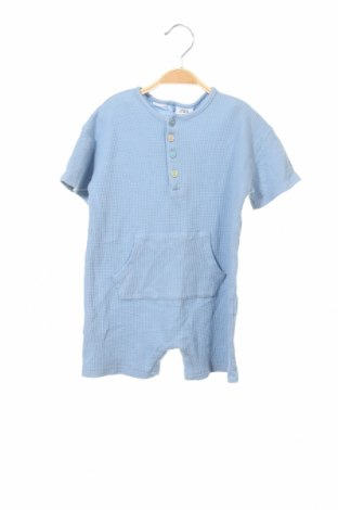 Детски гащеризон Zara, Размер 18-24m/ 86-98 см, Цвят Син, 100% памук, Цена 8,19лв.