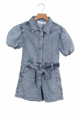 Детски гащеризон Zara, Размер 7-8y/ 128-134 см, Цвят Син, Памук, Цена 7,90лв.