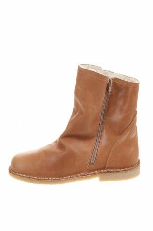 Детски обувки Pom Pom, Размер 35, Цвят Кафяв, Естествена кожа, Цена 89,25лв.