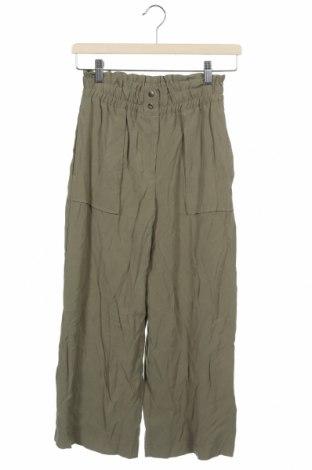 Pantaloni pentru copii Zara, Mărime 13-14y/ 164-168 cm, Culoare Verde, 93% viscoză, 7% poliester, Preț 33,16 Lei